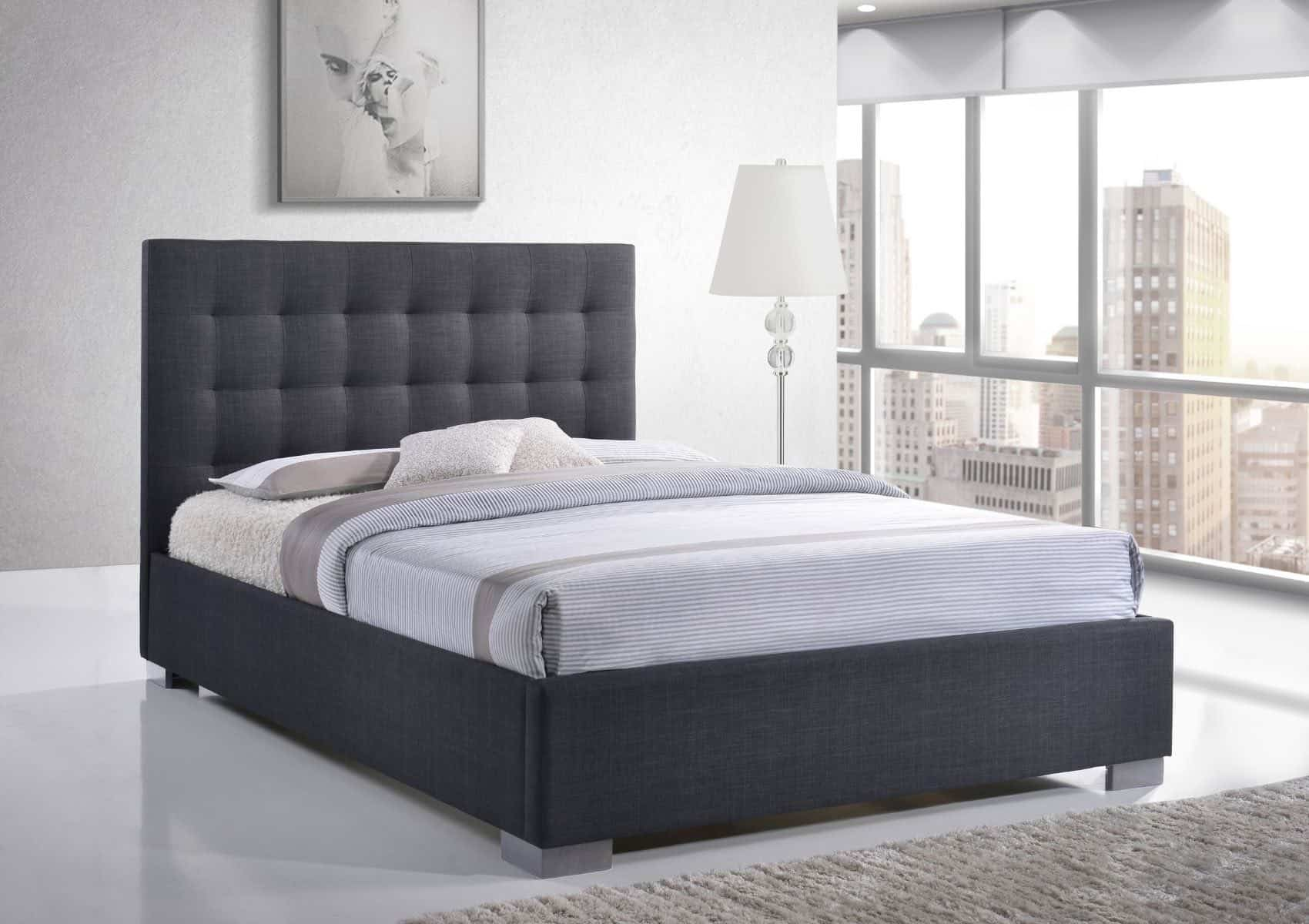 Nevada Bed Frame Grey Upholstered Beds Number One Beds