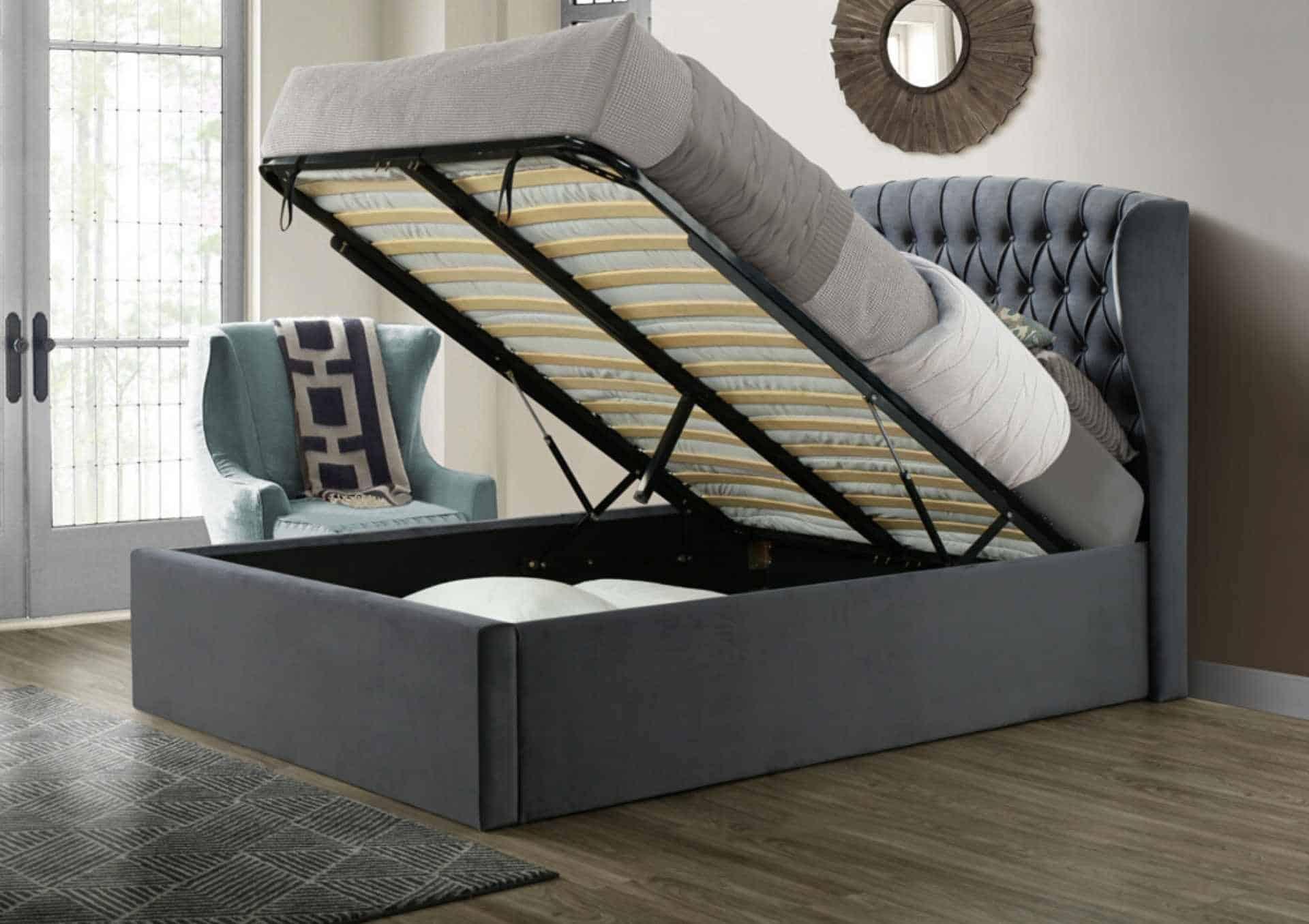 Warwick Bed Grey